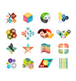 set of trendy geometrical shaped infographic vector image vector image