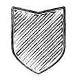 shield in monochrome blurred contour and striped vector image vector image