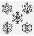 snowflakes Set of Snowflake handmade vector image vector image
