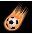 soccer-fire vector image vector image