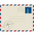 stamp mail vector image vector image