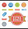super extra bonus banners text in color drawn vector image