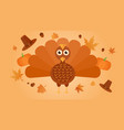 thanksgiving turkey with flying miscellaneous vector image