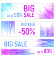 three banners colorful abstract geometric vector image