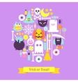 Trick or Treat Halloween Trendy Concept vector image vector image