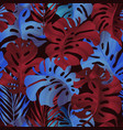 tropical plant seamless pattern palm leaf vector image vector image
