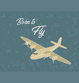 vintage airplane poster vector image vector image