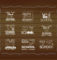 Vintage back to school card Wooden background vector image vector image