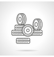 Wheels for rollers flat line icon vector image vector image