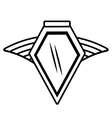 shield insignia military winged outline empty vector image