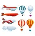 Hot air balloon isolated set vector image