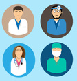 Medical avatars set vector image