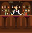bar pub interior flat with vector image