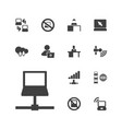 13 laptop icons vector image vector image