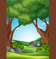 a forest nature scene vector image vector image