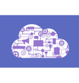 Abstract concept of cloud computing vector image vector image