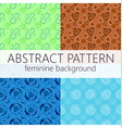 abstract seamless pattern repeatable template vector image vector image