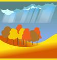 autumn or fall four seasons nature landscape vector image