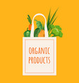 bag with organic vegetables vector image vector image