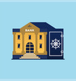bank building symbol of safe vector image vector image