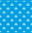 brazil flag pattern seamless blue vector image vector image