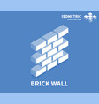 brick wall icon isometric template for web design vector image vector image