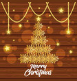 bright merry christmas card vector image
