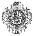 brooch renaissance style vintage engraving vector image vector image