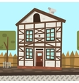 cartoon flat Germany house vector image