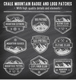 chalkboard mountain insignias vector image vector image