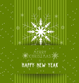 christmas and happy new year with snowflakes card vector image vector image