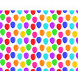 color balloons seamless pattern flat design vector image
