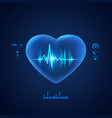concept cadiology technology transparent heart vector image vector image