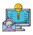 cybersecurity threat cartoon vector image