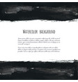 dark gray ink watercolor frame vector image vector image