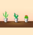 decorative exotic plants set vector image vector image