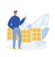 ecologist solar panels flat vector image vector image
