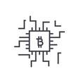 fintech concept linear icon sign symbol vector image vector image
