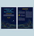 flyer corporate business in blue color vector image