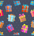 gifts or present boxes seamless pattern vector image