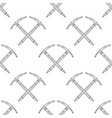hand drawn crossed ice axes seamless pattern vector image vector image