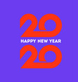 happy new year 2020 logo with orange numbers vector image vector image