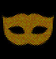 hexagon halftone privacy mask icon vector image