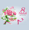 horizontal 8 march womens day greeting card vector image