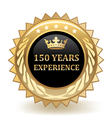Hundred Fifty Years Experience Badge vector image vector image