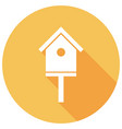 icon bird-house with a long shadow vector image
