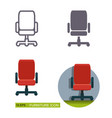 icons of the office chair vector image vector image