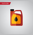 isolated fuel canister flat icon jerrycan vector image