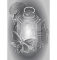 lantern and candle vector image vector image