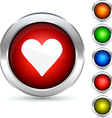 Love button vector image vector image